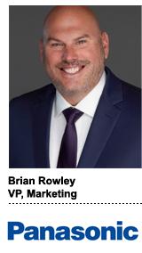 Brian Rowley, VP of marketing, Panasonic
